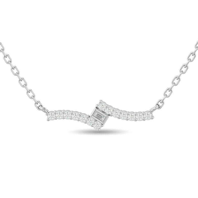 0.15Ctw Diamond Necklace 10KW