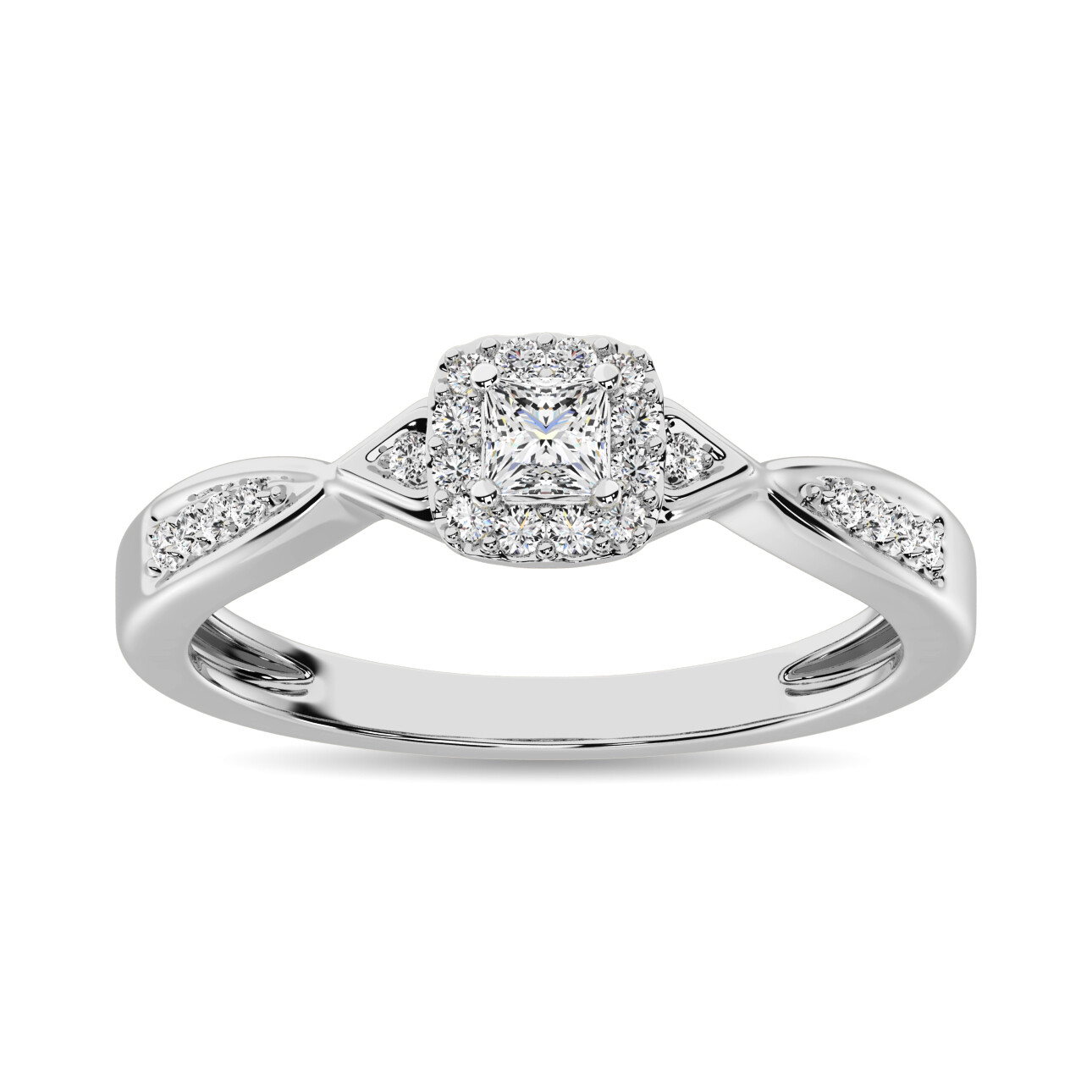 0.16Ctw Infinity Diamond Ring 10KW