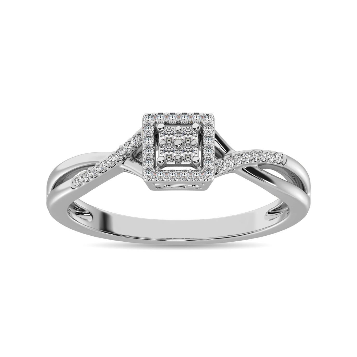 0.10Ctw Infinity Diamond Ring 10KW