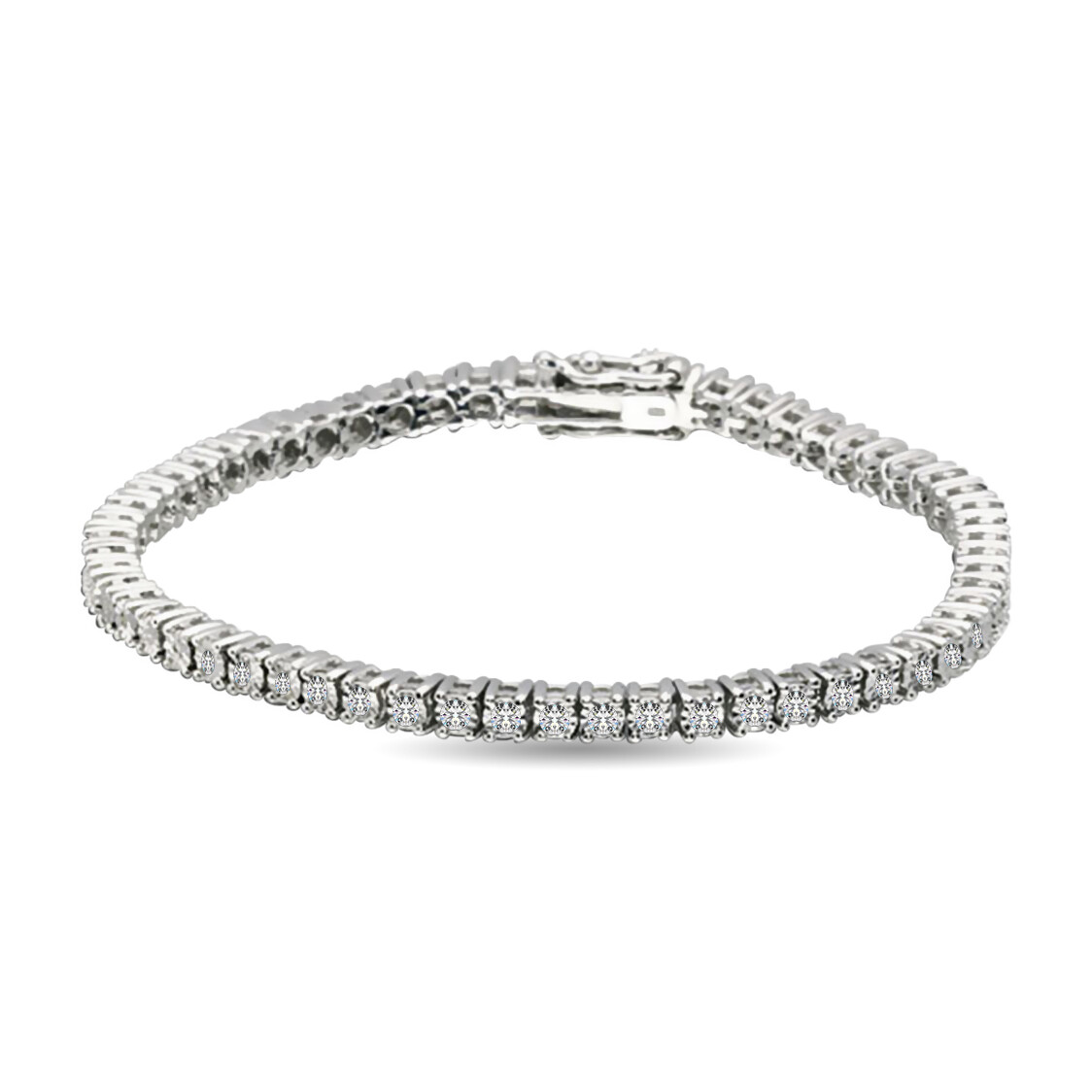1Ctw Diamond Bracelet 14KW