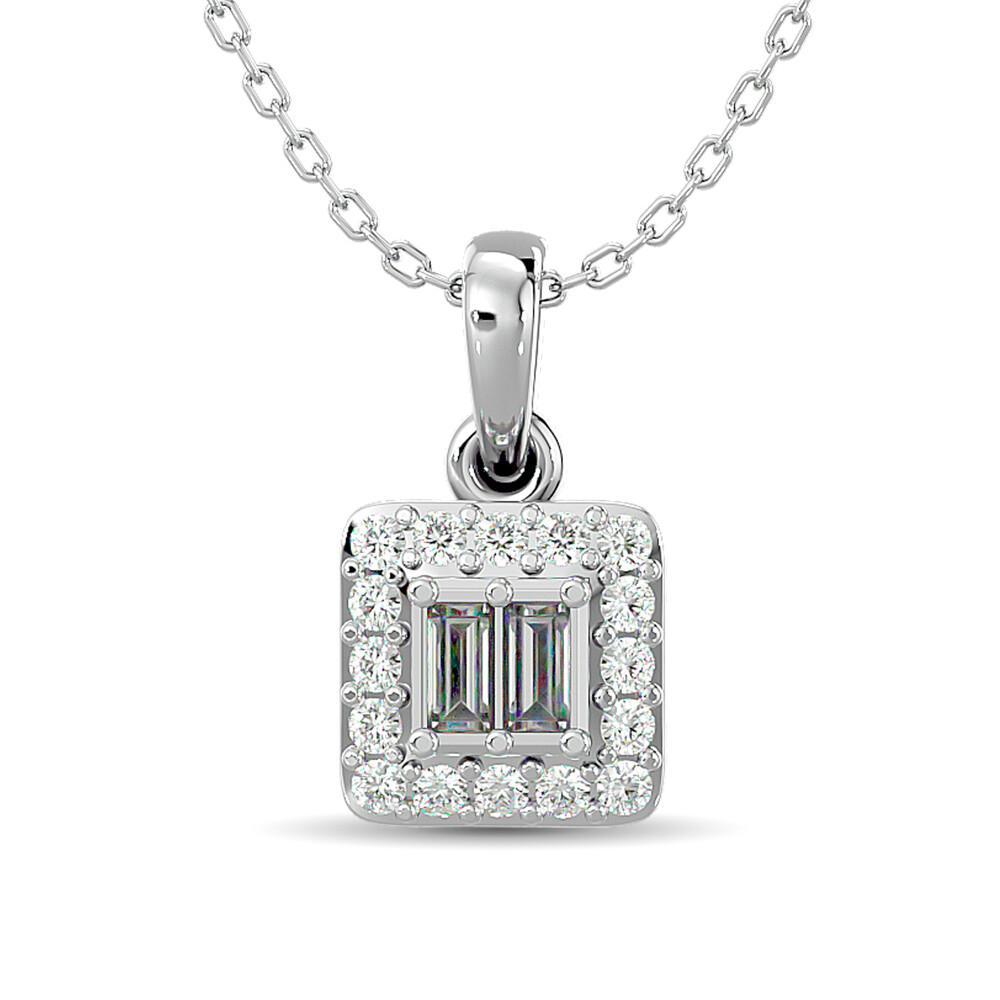 0.10Ctw Diamond Pendant 10KW