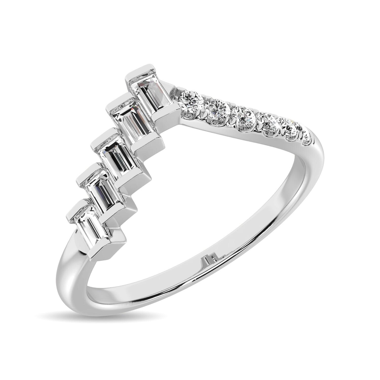 0.25Ctw Fashion Diamond Ring 10KW