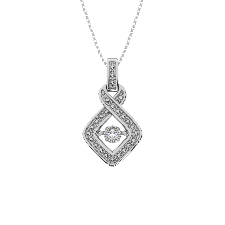 0.02Ctw Silver Diamond Pendant