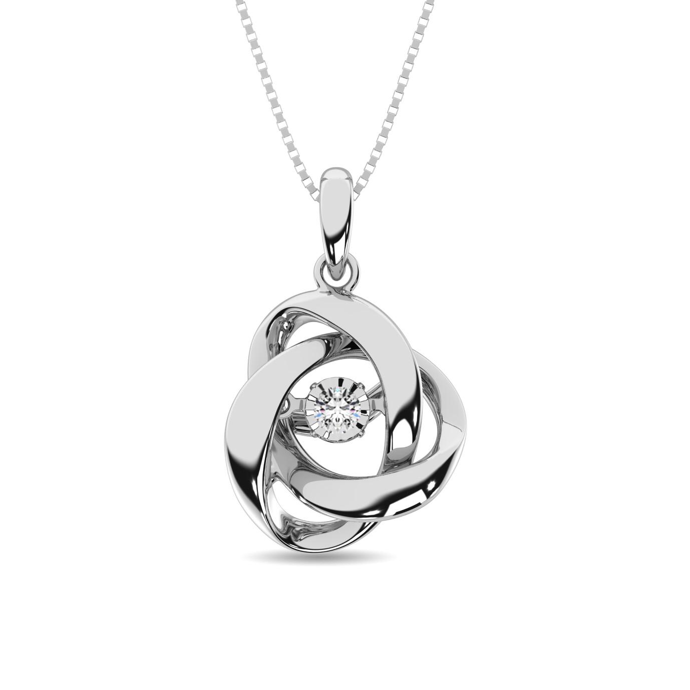 0.05Ctw Silver Diamond Pendant