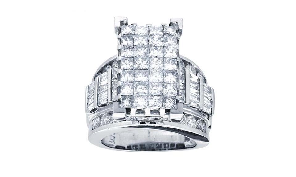 0.50CTW Princess Cut Diamond Ring 10KW