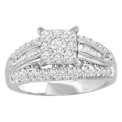 1CTW Diamond Wedding Ring 10KW
