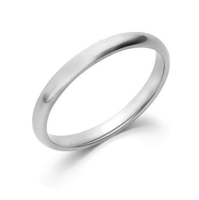 2MM CF Wedding Band 10K