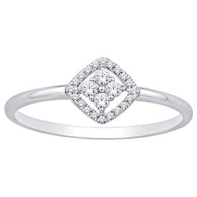 0.10CTW Diamond Fashion Ring 10KW