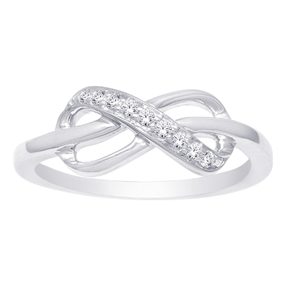 0.10CTW Silver Diamond Fashion Ring