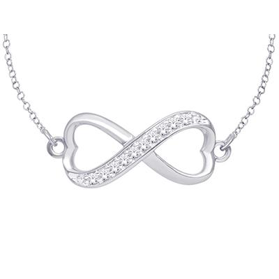 0.10CTW Silver Diamond Pendant
