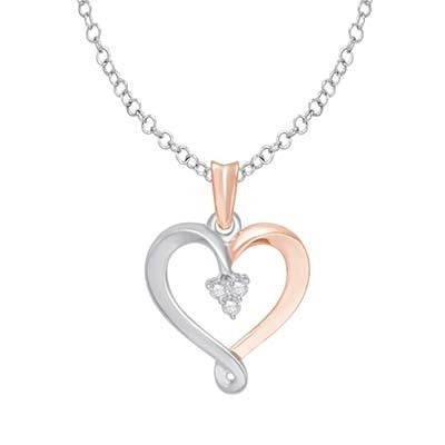 0.05CTW Heart Diamond Pendant 10K