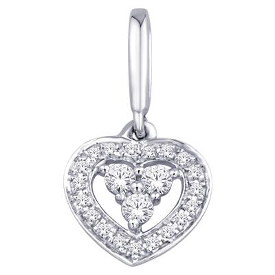 0.05CTW Heart Diamond Pendant 10K