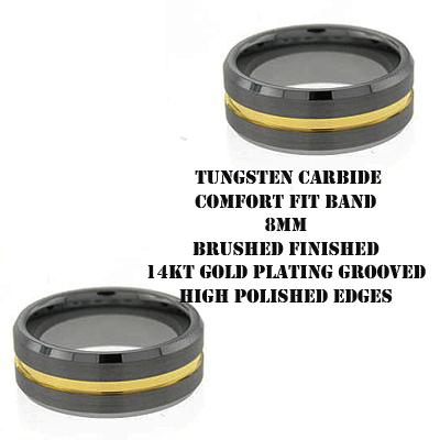 Men's 2 Tone Tungsten Band