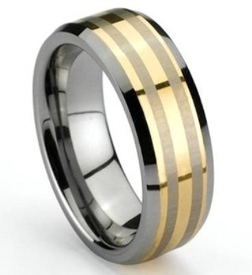 Men's 2 Tone Tungsten Band