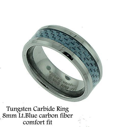 Men's Tungsten Grey Carbon Fiber Band
