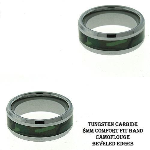 Men's Camo Tungsten Band