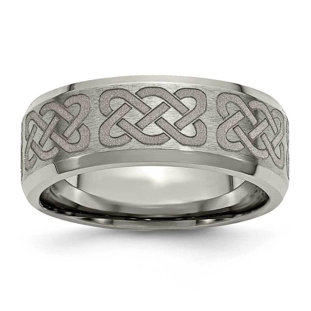 Men's Celtic Knot Design Titanium Band