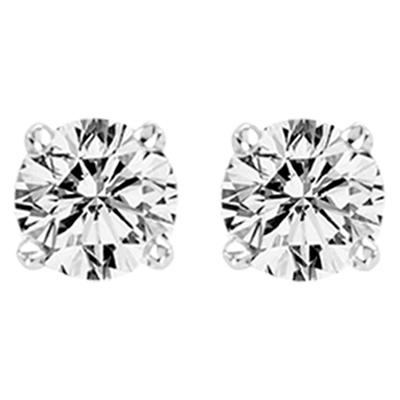 0.33CTW Round Diamond Stud Earrings