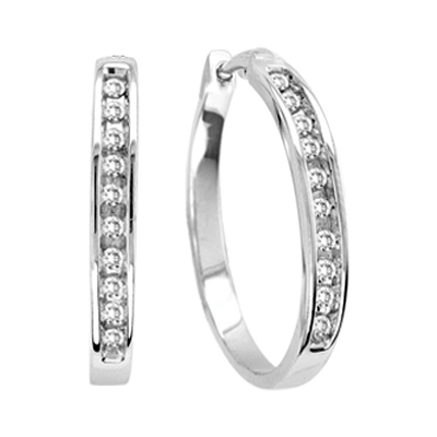 0.20CTW Diamond Hoop Earrings