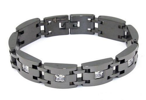 Men's Stainless Steel CZ Bracelet