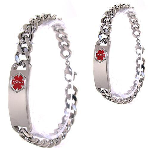 Men's Stainless Steel Medic ID Bracelet