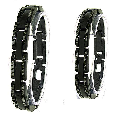 Men's Greek Key Stainless Steel Bracelet