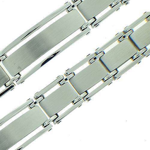 Men's Brushed Polish Stainless Steel Bracelet