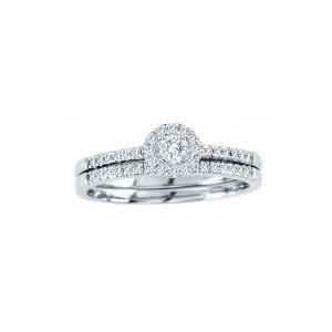 0.30CTW Diamond Wedding Set 10KW