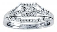 0.25CTW Diamond Wedding Set 10KW.