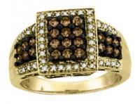 0.65CTW Brown Diamond Ring 10KY