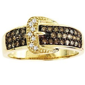 0.25CTW Brown Diamond Ring 10KY