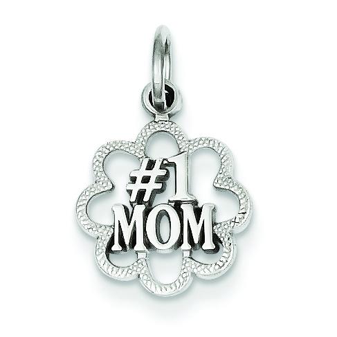 14KY #1 Mom Charm Pendant