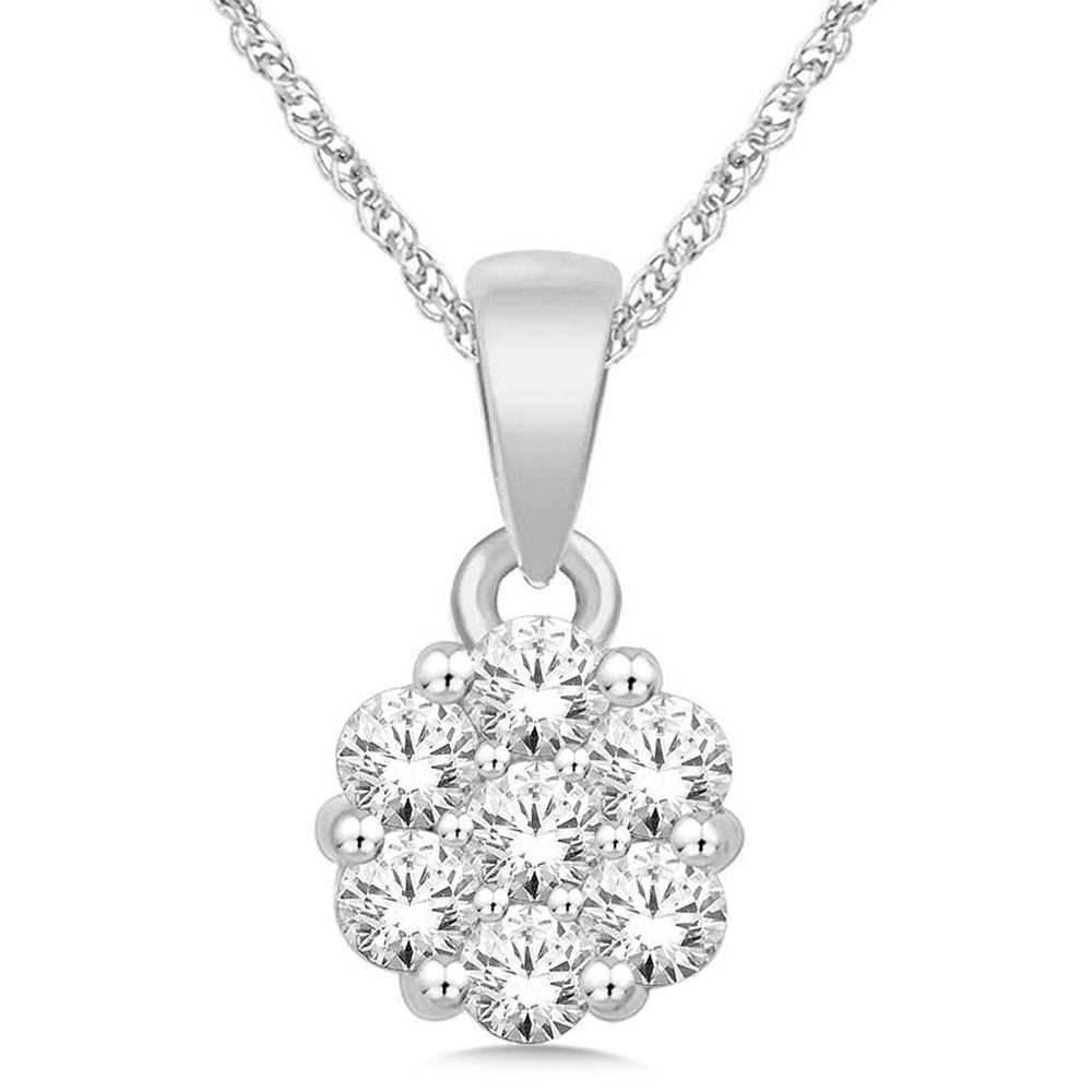 0.25Ctw Diamond Pendant 10KW