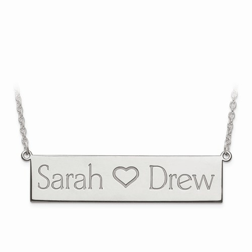 Couple's Name Bar Necklace