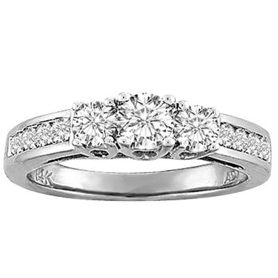 0.50CTW Diamond Engagement Ring 14KW