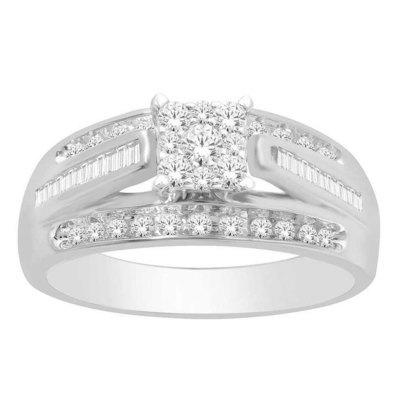1CTW Round Diamond Ring 10KW