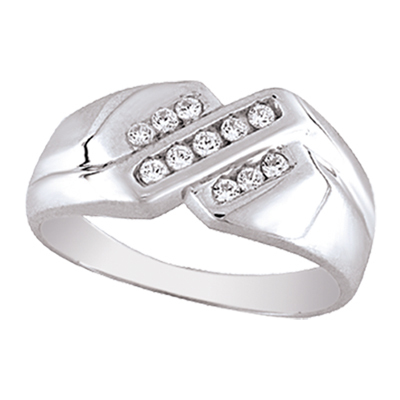 0.25CTW Men's Diamond Ring 10KW