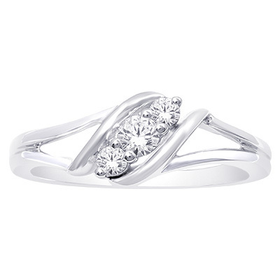 0.25CTW Diamond Fashion Ring 10KW