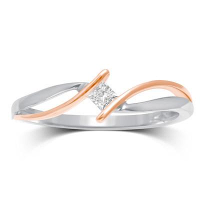 0.10CTW Princess Cut Diamond Ring 10K