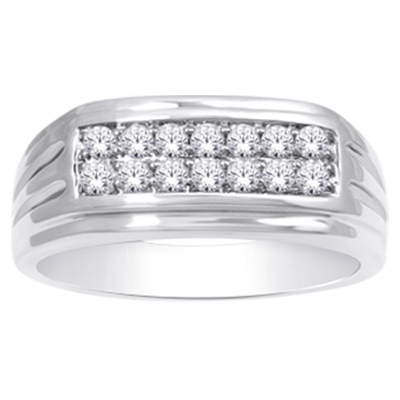 0.50CTW Men's Diamond Ring 10KW