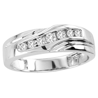0.20CTW Men's Diamond Ring 10KW