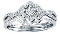 0.25CTW Diamond Wedding Set 10KW