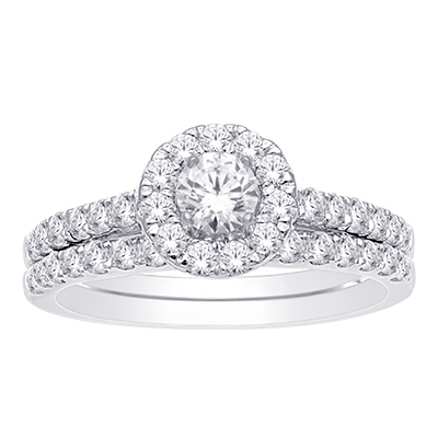1CTW Round Diamond Wedding Set 10KW