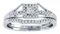 0.25CTW Diamond Wedding Set 10KW.