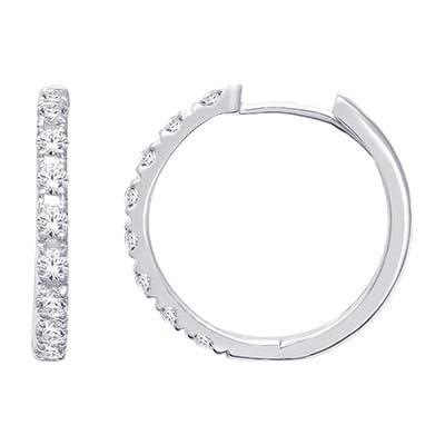0.50CTW Diamond Hoop Earrings