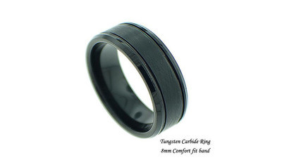 Men's IP Plated Tungsten Band