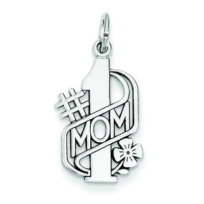 14KW #1 MOM Charm Pendant