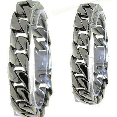 Men's Curb Link Stainless Steel Bracelet