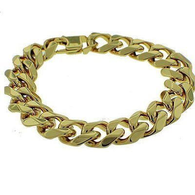 Men's Gold Tone Stainless Steel Bracelet