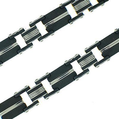 Men's 2 Tone Stainless Steel Bracelet